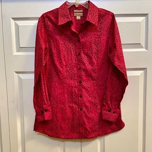 🆕INVESTMENTS NON IRON GOLD LABEL GORGEOUS BLOUSE